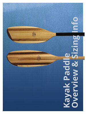 Kayak Paddle Overview and Sizing Information